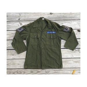 Vintage U.S. Military jacket button down shirt